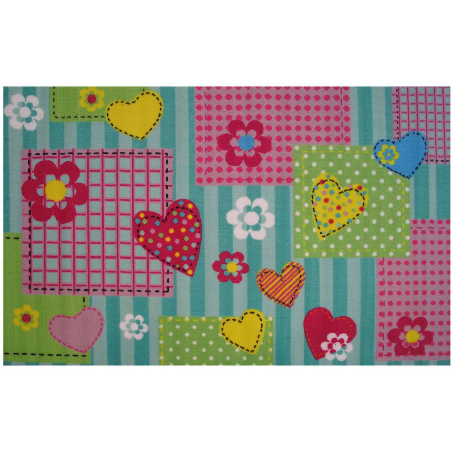 Fun Rugs Hearts and Flowers Kids Rugs