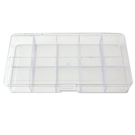 - Compact Storage Box Multi-Functional Utility Box 10 Divided Slots