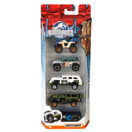 Matchbox Jurassic World 1:64 Vehicle 5-Pack (Styles May Vary), Celebrate the fourth installment in the Jurassic Park film series with a 5-pack of 1:64-scale vehicles By Jurassic World Toys - Prank Toys For Sale