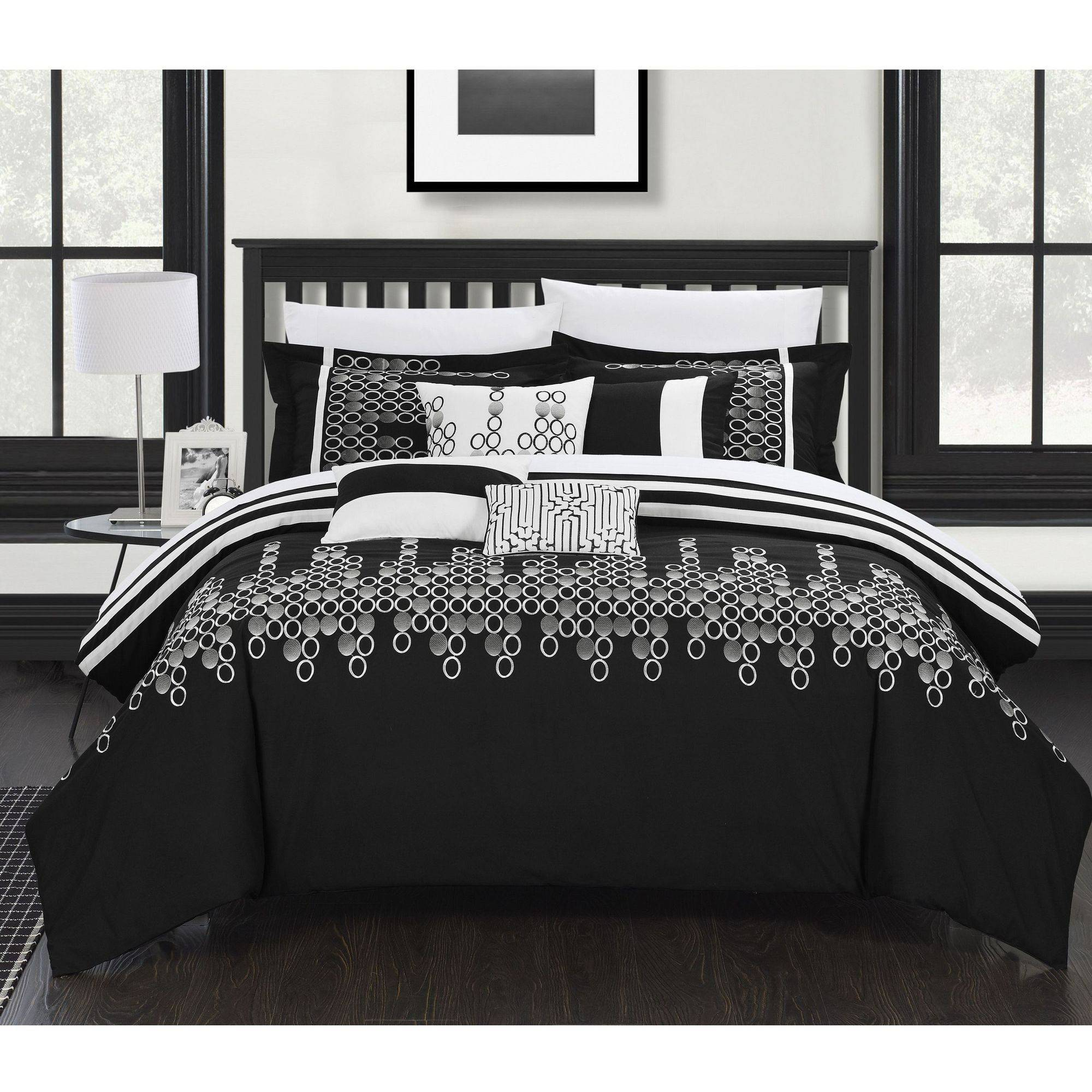 Chic Home Oversized Overfilled 8-Piece Laurie Embroidered Comforter Set
