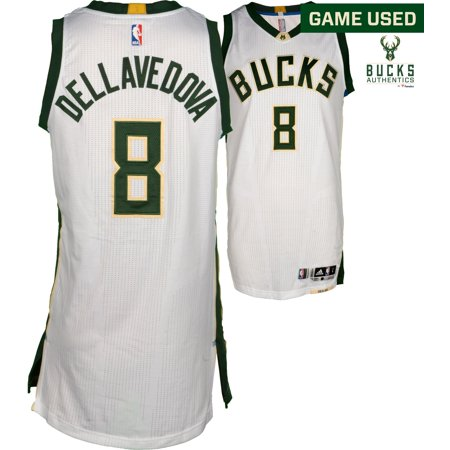 Matthew Dellavedova Milwaukee Bucks Game-Used #8 White Jersey vs. New York Knicks on March 8, 2017 - Fanatics Authentic Certified