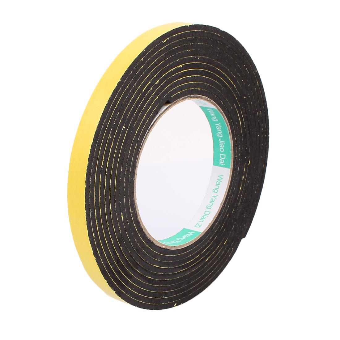 12mm Width Single Side Self Adhesive Shockproof Sponge Foam Tape 4 Meters Length