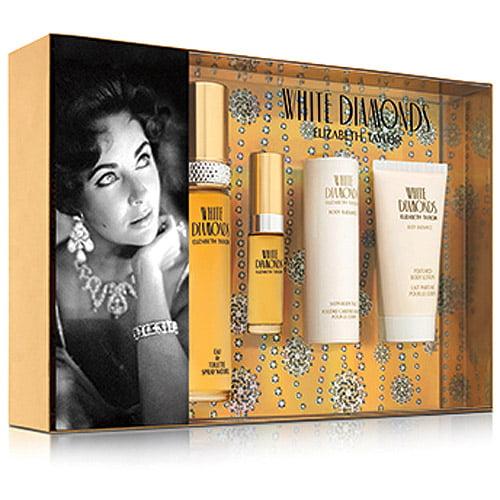 Elizabeth Taylor White Diamonds Fragrance Gift Set for Women, 4 pc