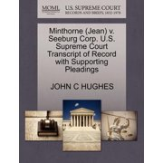 Minthorne (Jean) V. Seeburg Corp. U.S. Supreme Court Transcript of Record with Supporting Pleadings
