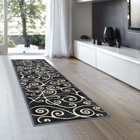 Allstar Grey Abstract Modern Area Carpet Rug - Runner (2' 0