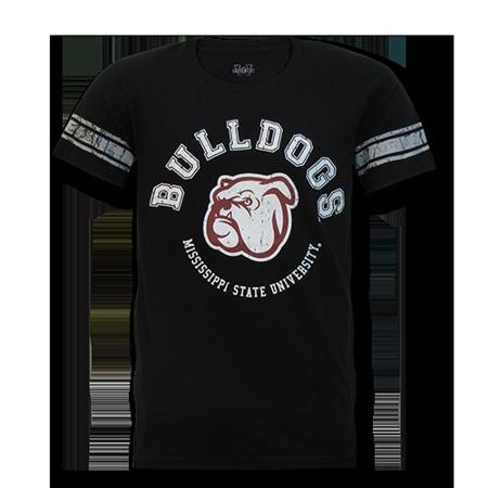 Mississippi State University Alumni - Mississippi State University Bulldogs, Medium, NCAA,The Football Tee T-shirt, W Republic,Black