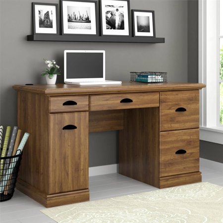 Better Homes and Gardens Computer Desk, Brown Oak