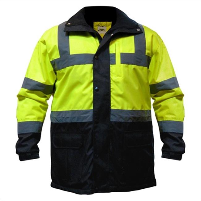 Utility Pro Wear UHV1004-M-Y High Visibility Parka Jacket Class 3 Medium, Yellow by Utility Pro Wear