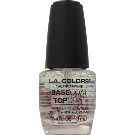L.A. Colors Base Coat/ Top Coat Nail Polish, 0.44 Fl Oz