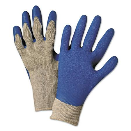 Anchor Brand Latex Coated Gloves 6030, Gray/Blue, Medium
