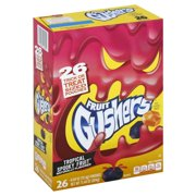 Fruit Gushers Tropical Spooky Fruit Flavored Snacks, 0.44 Oz., 26 Count