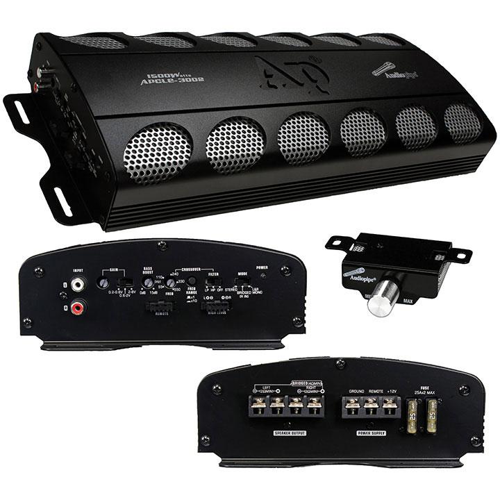 Audiopipe APCLE-3002 1500 Watts 2 Channel Class AB Mono Amplifier