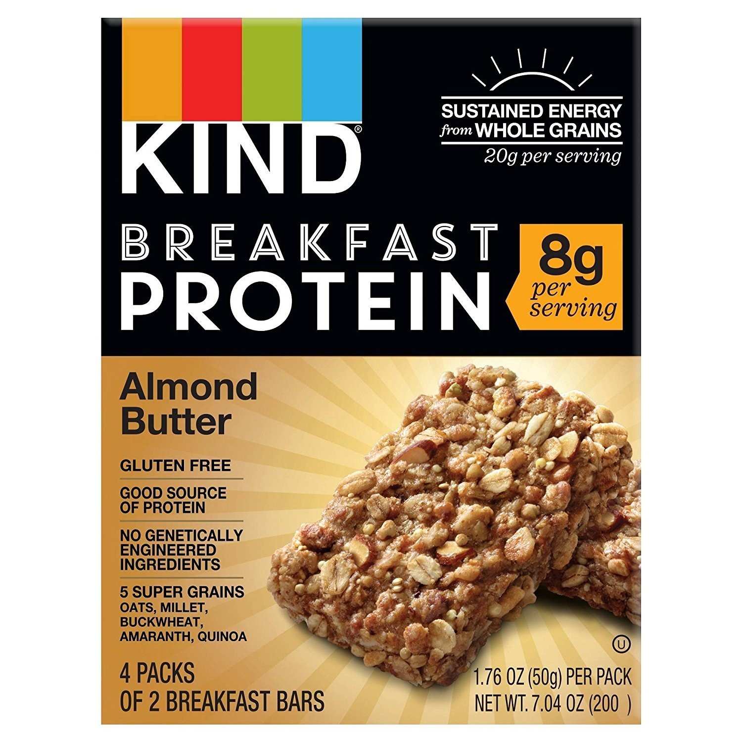 (4 pack) Kind Protein Bar, Almond Butter, 1.76 Oz, 4 Ct