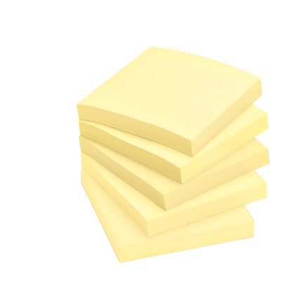 Post-it Super Sticky Notes Canary Yellow 5 Pack, 3