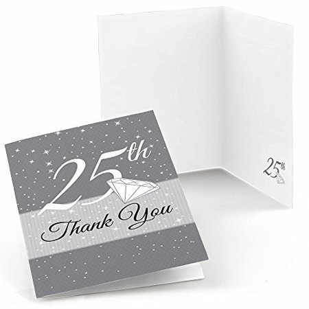 25th Anniversary - Anniversary Thank You Cards (8