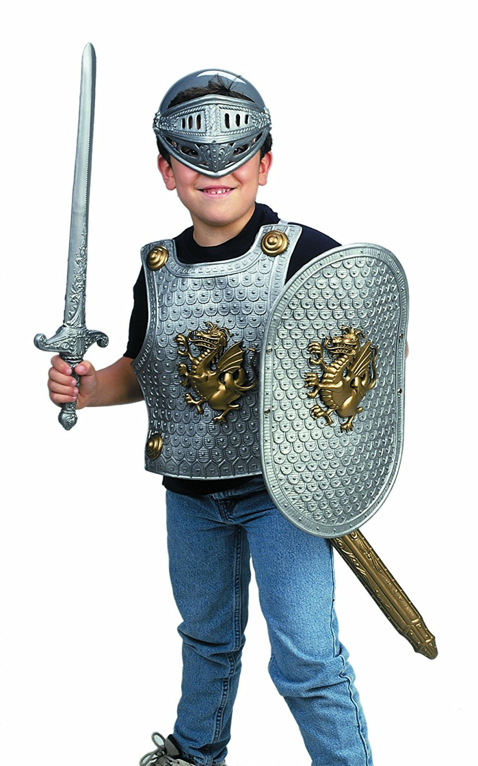 IMaginative Play Knight in Shining Armor Silver Color, Imported By Small World Toys by