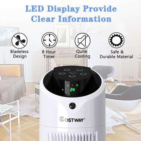 Costway Portable Air Conditioner Cooler Fan Filter Humidify Tower Fan W/ Remote Control - image 9 of 10