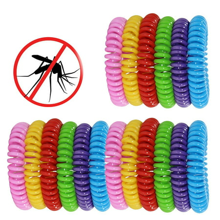 18 Pack Natural Mosquito Insect Repellent Bracelets Outdoor Indoor Bug Pest Control Wristbands for Babies Toddler Kids (Yellow Blue Pink Red Green Purple)](Pest Control Costume)