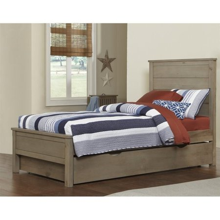 Rosebery Kids Twin Panel Bed with Trundle in Driftwood - image 2 de 2