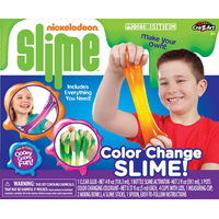 Nickelodeon Color Change Slime Kit by Cra-Z-Art, DIY STEAM Kit for Kids, Ages 6+