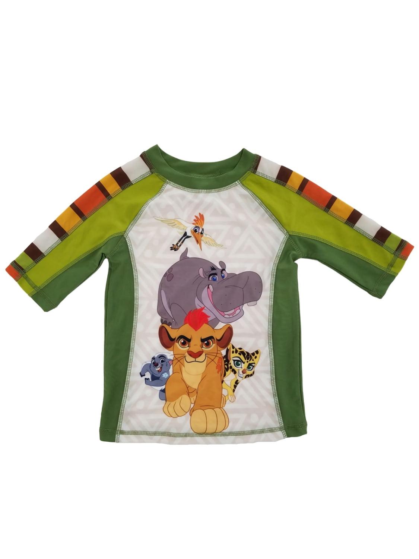 Disney The Lion Guard Little Boys Safari Green Rash Guard Swim Shirt
