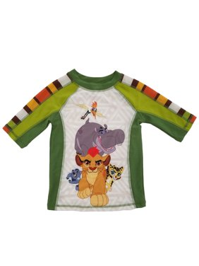 Disney The Lion Guard Little Boys Safari Green Rash Guard Swim Shirt
