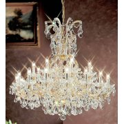 40 in. Maria Theresa Chandelier in Old World Gold Finish (Crystalique)