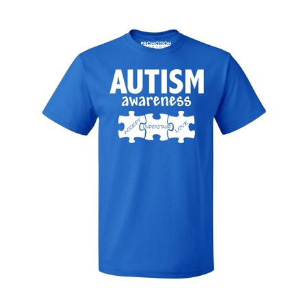 Autism Merchandise (Autism Awareness Support Jigsaw Puzzle Men's T-shirt, 3XL, Royal)