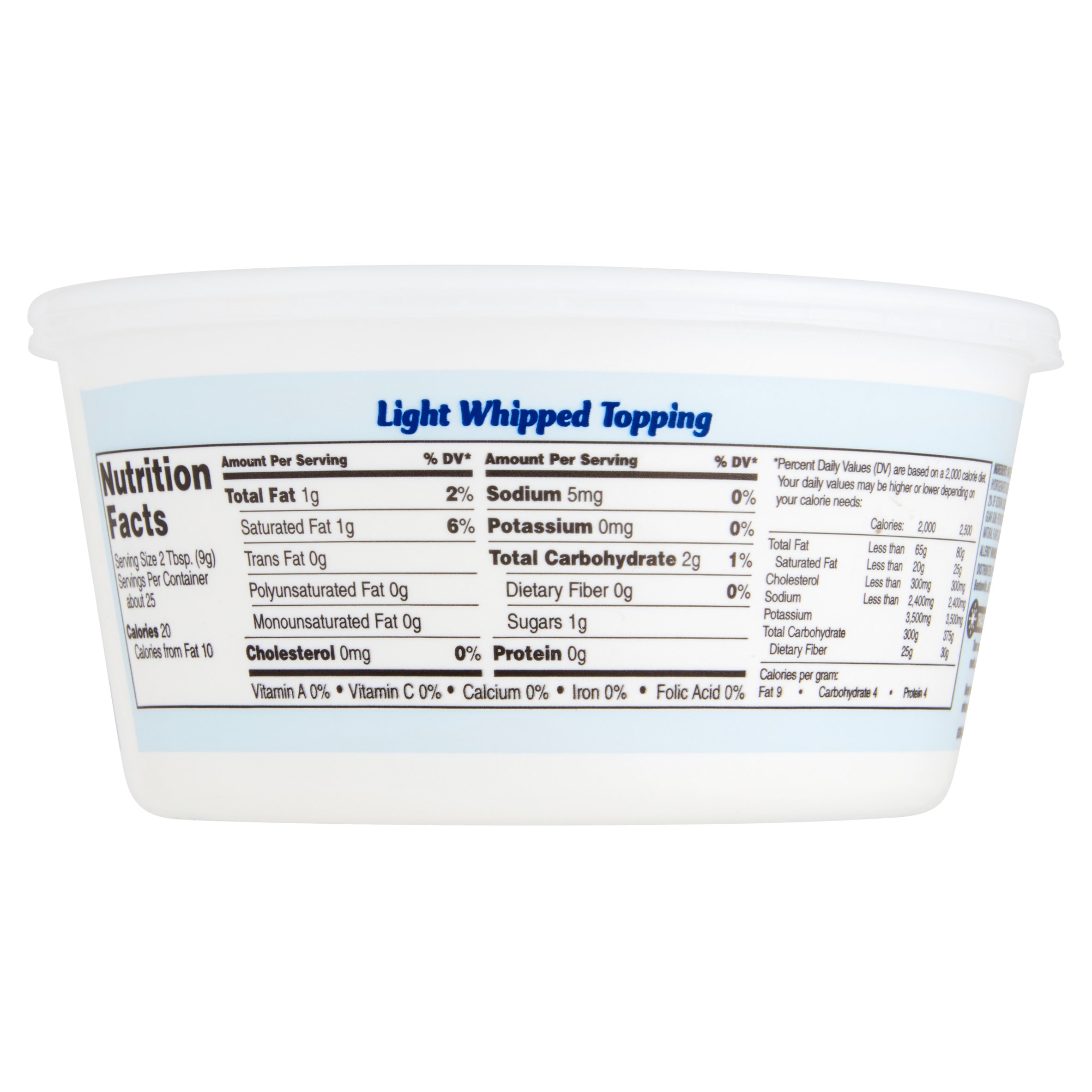 Great Value Light Whipped Topping Whipped Topping With A Light
