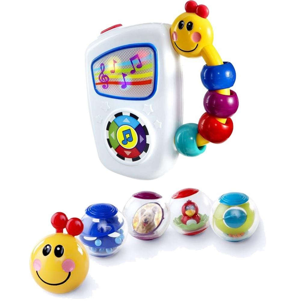 Baby Einstein Take Along Tunes Musical Toy with Roller-Pillar Activity Balls
