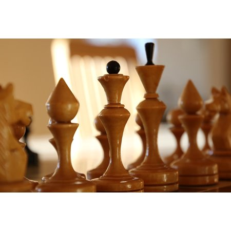 Canvas Print King Duel Chess Win Lose Queen Match War Stretched Canvas 10 x 14 ()