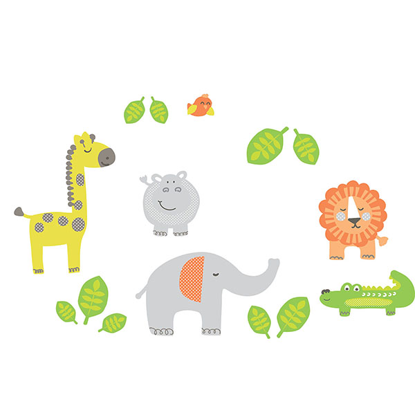 Jungle Buddies Wall Stickers
