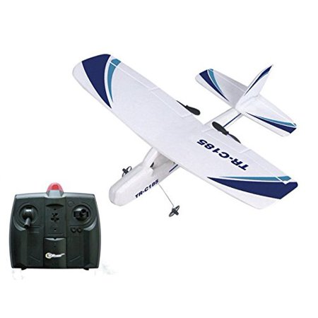Top Race Cessna C185 Electric 2 Ch Infrared Remote Control RC Airplane RTF (Colors Vary) ()