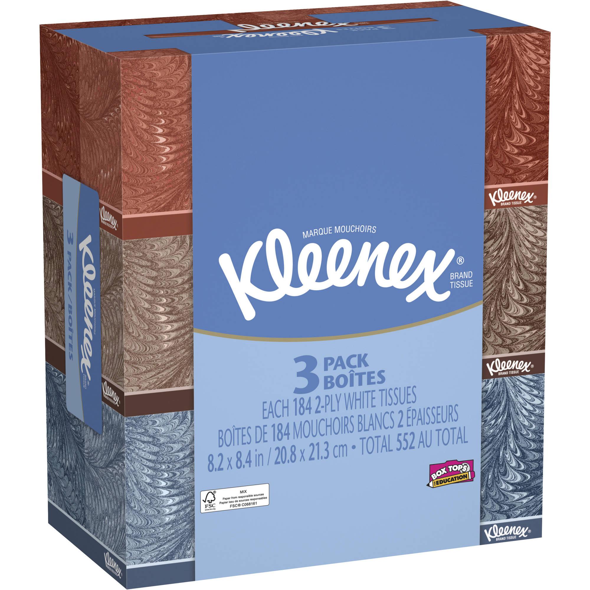 Kleenex Facial Tissues, 3ct