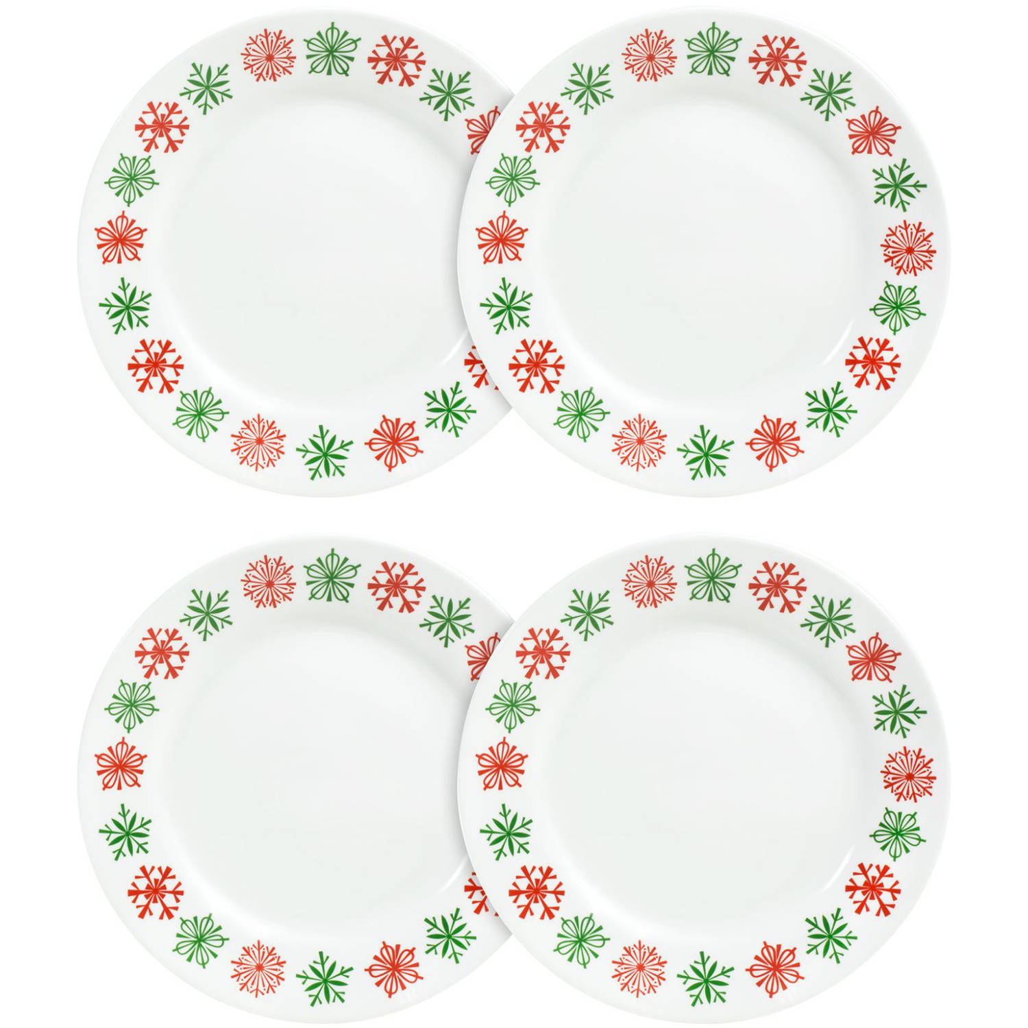 "Corelle Impressions 8.5"" Lunch Plate Cater, Cheerful Flurry, Set of 4"
