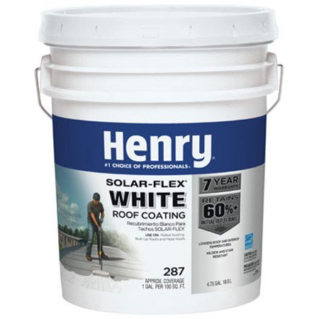 Henry HE287GR018  4.75 gal. Protective Roof Coating, White