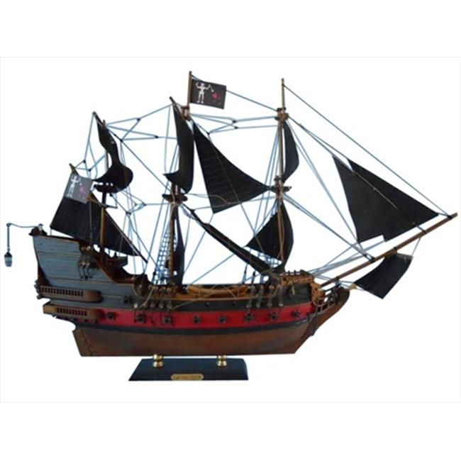Handcrafted Model Ships QA-24-Black-Sails Blackbeards Queen Annes Revenge Limited 24 in. Decorative Model... by Handcrafted Model Ships