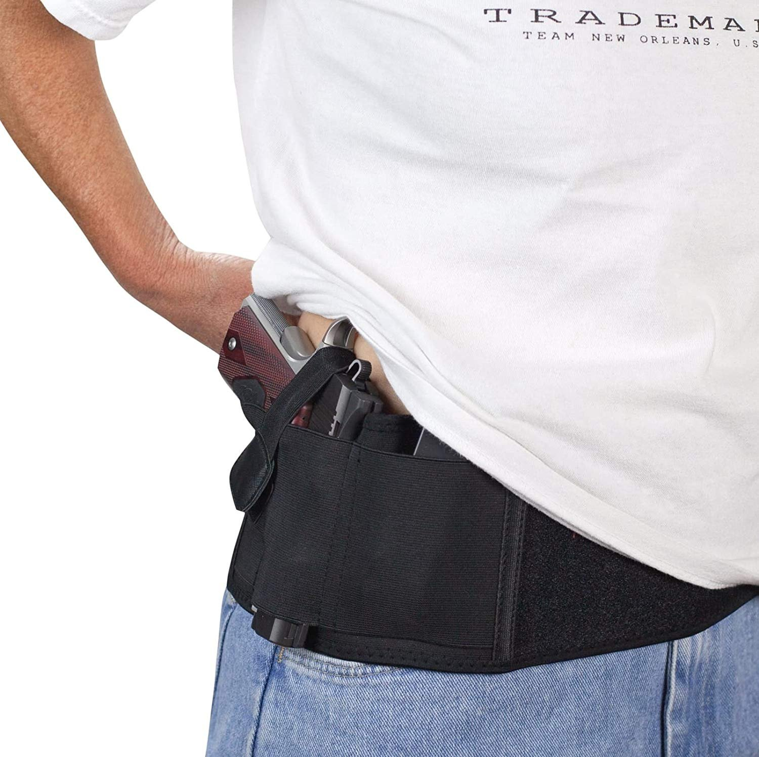 """Concealed Carry Belly Band Holster Neoprene Waist Handgun Carrier Fits up to 44/"""""""