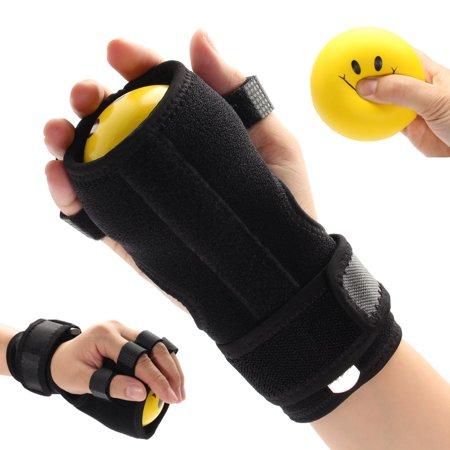 Spasticity Hand Splint (Asewin Finger Splint,Anti-Spasticity Ball Splint Hand Functional Impairment Finger Wrist Orthosis S)