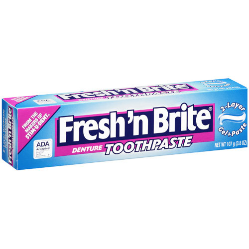 Fresh 'N Brite Denture Toothpaste, 3.8 oz