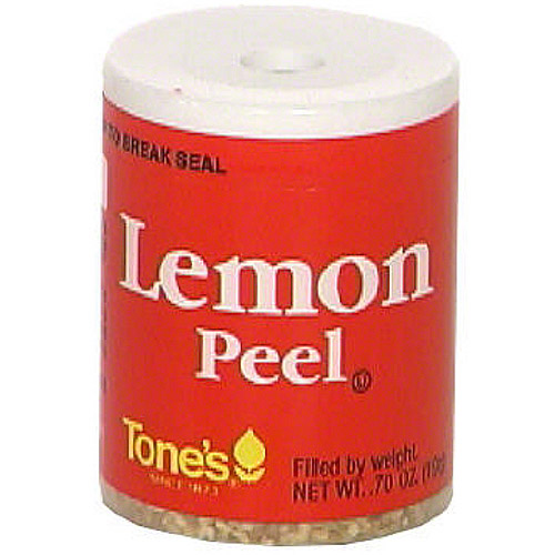 Tone's Lemon Peel, 0.7 oz (Pack of 6)