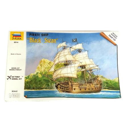 Zvezda #6514 1/350 Scale Unpainted Miniature Figure - Model: Black Swan Ship
