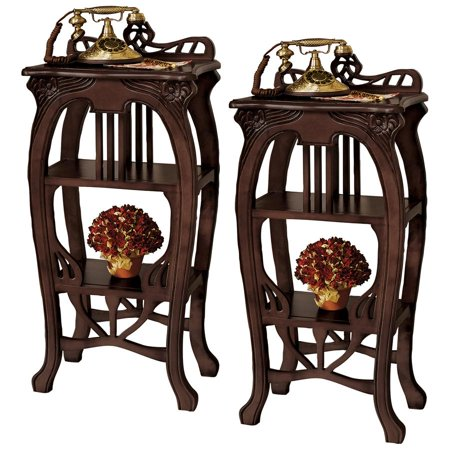 Design Toscano Art Nouveau Harp Side Table: Set of Two