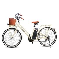 NAKTO Classic 26inch City Electric Bicycle 250W 36V for Female White