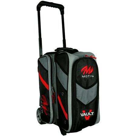 Motiv Vault 2 Ball Roller Bowling Bag Black