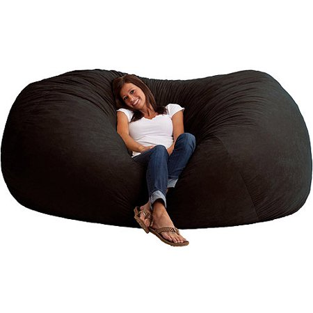 This button opens a dialog that displays additional images for this product  with the option to zoom in or out. - XXL 7' Fuf Comfort Suede Bean Bag, Multiple Colors - Walmart.com