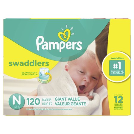 Pampers Swaddlers Diapers Size N 120 Count