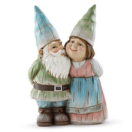 Standing Gnome Couple Pastel Garden Statue