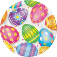Colorful Easter Eggs Dessert Plates, 24 Count for 24 Guests