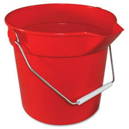 Deluxe Heavy Duty Bucket, Red - 10.3 x 11 in.